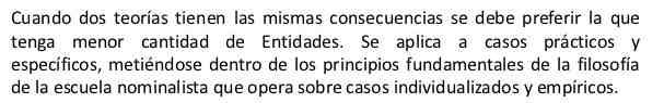 Ockham principio