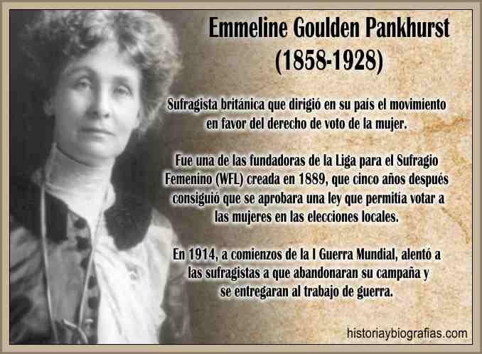 Biografia de Pankhurst Emmeline  Sufragista