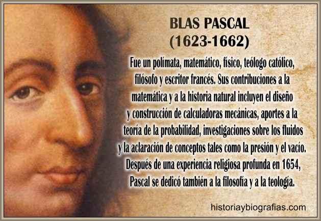 Biografia de Blaise Pascal: inventor,matematico y gran fisico Resumen