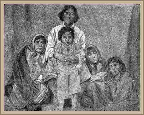 cacique pincen y su familia