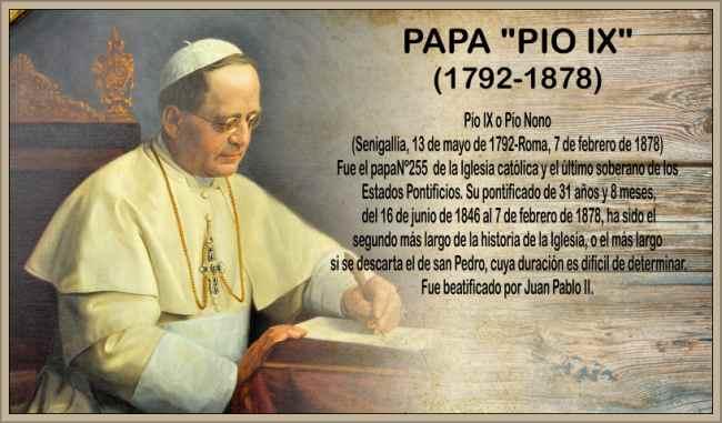 Biografia del Papa Pio IX Resumen de su Obra Concilio Vaticano I
