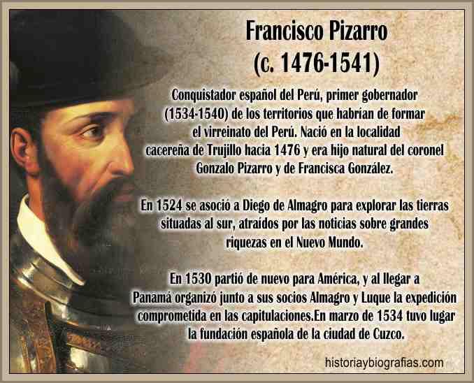 Biografia Francisco Pizarro La Conquista del Peru, Sometimiento Inca –  BIOGRAFÍAS e HISTORIA UNIVERSAL,ARGENTINA y de la CIENCIA