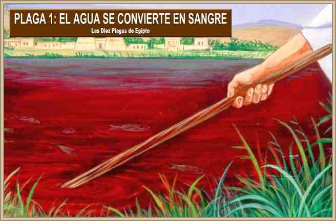 plaga de egipto el agua se convierte en sangre