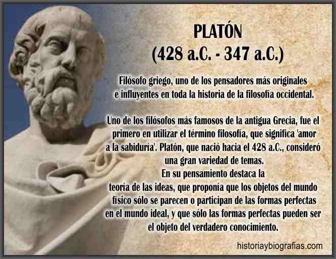 Biografia de Platon Pensamiento filosofico Filosofo griego