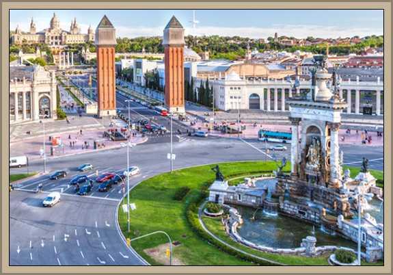 plaza españa en Barcelona