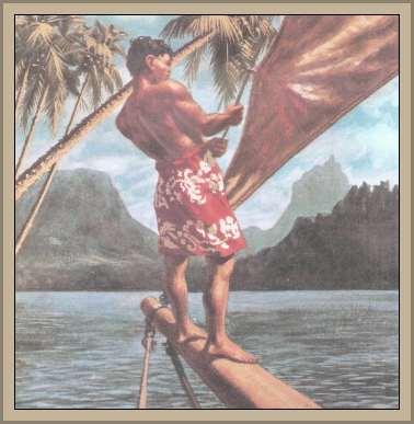 pescador de la Polinesia