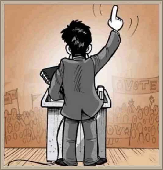 politico dando un discurso