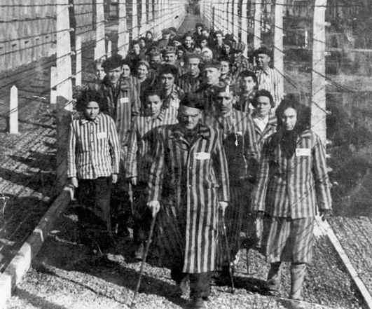 prisioneros en el campo de concentraion nazis
