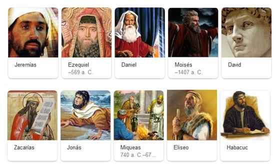 profetas de la biblia