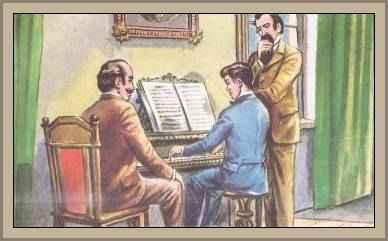 puccini tocando el piano