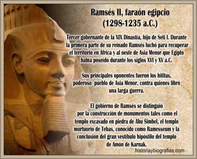 Ramses II Faraon de Egipto