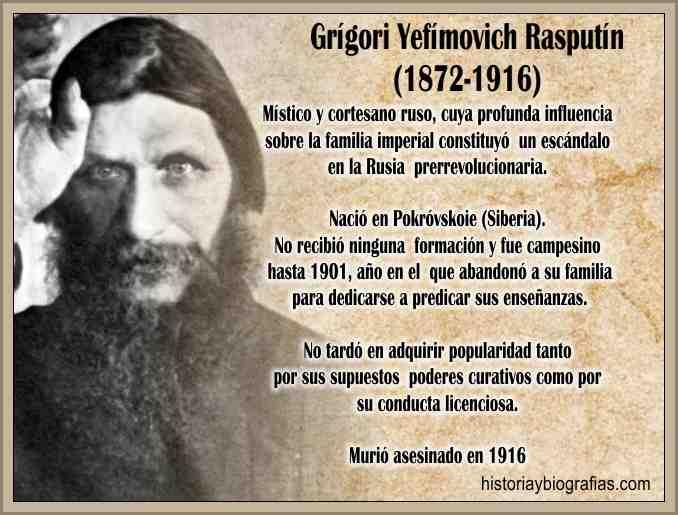 Rasputin el Monje Loco y la Zarina Alejandra en la Corte Rusa