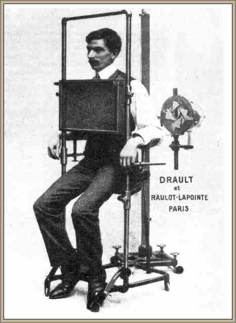 imagen de las primeras maquinas de rayos x aplicados a la salud