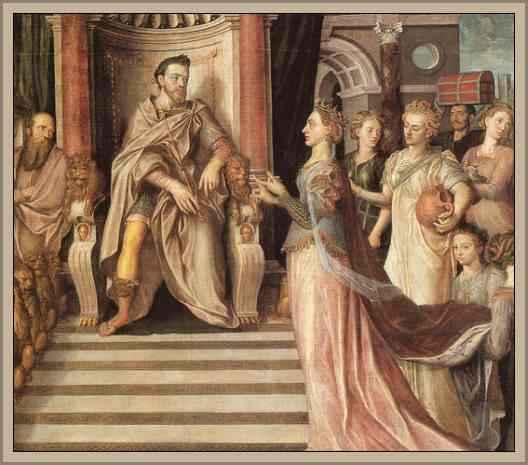 reina de saba visita a salomon rey