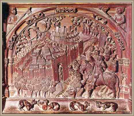 releieve en madera arabes