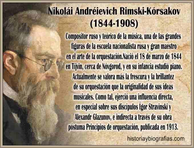 Biografia de Rimsky Korsakov Compositor Ruso