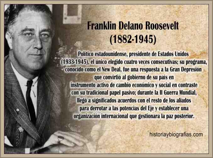 Biografia Franklin Delano Roosevelt – Resumen de su Gobierno ...