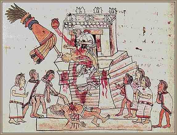 Sacrificios Humanos de los Aztecas
