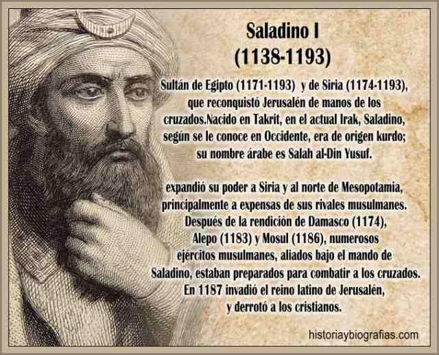 Biografia deSaladino:El Sultan Musulman Conquistador de Jerusalen