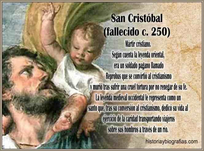 biografia de san cristobal