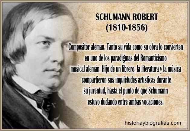 Biografia de Schumann Robert