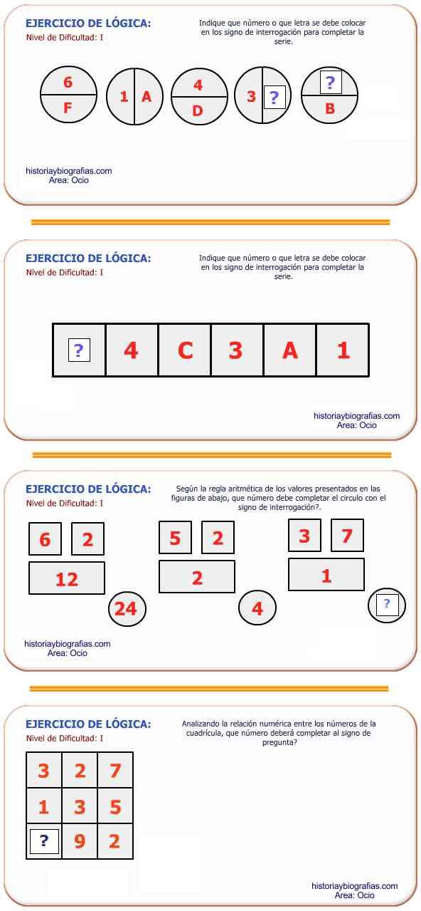 ejercicio de serie logicas