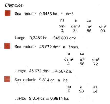 ejemplos de reduccion de unidades
