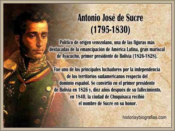 Biografia de Sucre Antonio José:Figura de la Independencia Americana