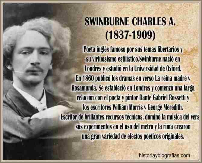 Biografia de Swinburne Charles Historia, Vida y Obra del Poeta