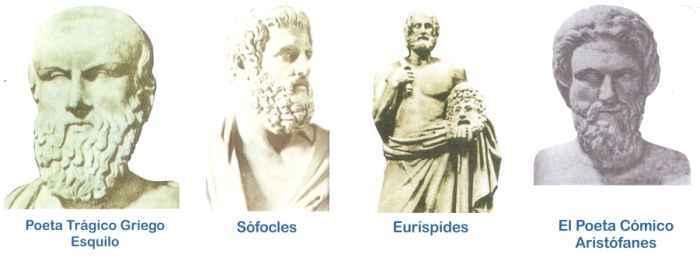 representantes del teatro griego