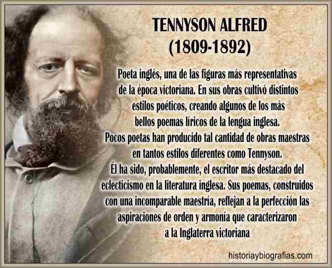 Biografia de Tennyson Alfred Historia, Vida y Obra del Poeta