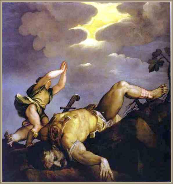 obra de tiziano renacimiento david y goliat