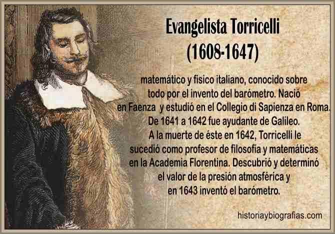 Biografía de Evangelista Torricelli Fisico Presion Atmosferica