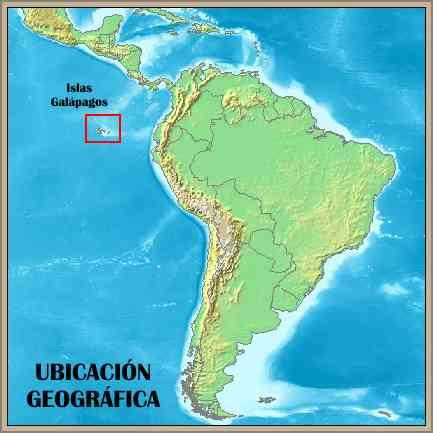 mapa ubicacion geografico islas galapagos