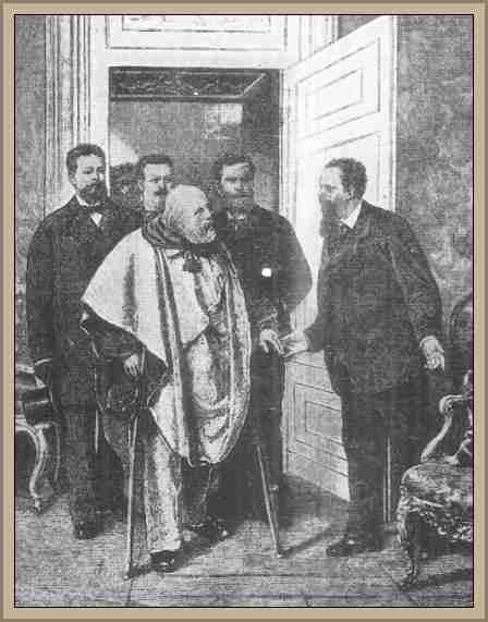 Garibaldi visita al Rey Victor Manuel II