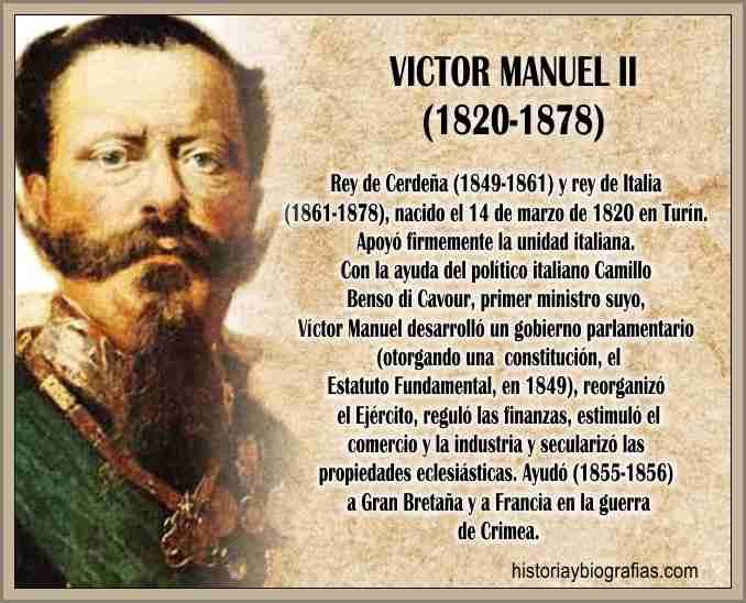 Biografia y Gobierno de Victor Manuel II de Italia