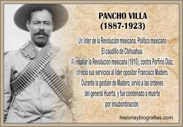 Biografia  de Pancho Villa Lider Revolucionario de Mexico