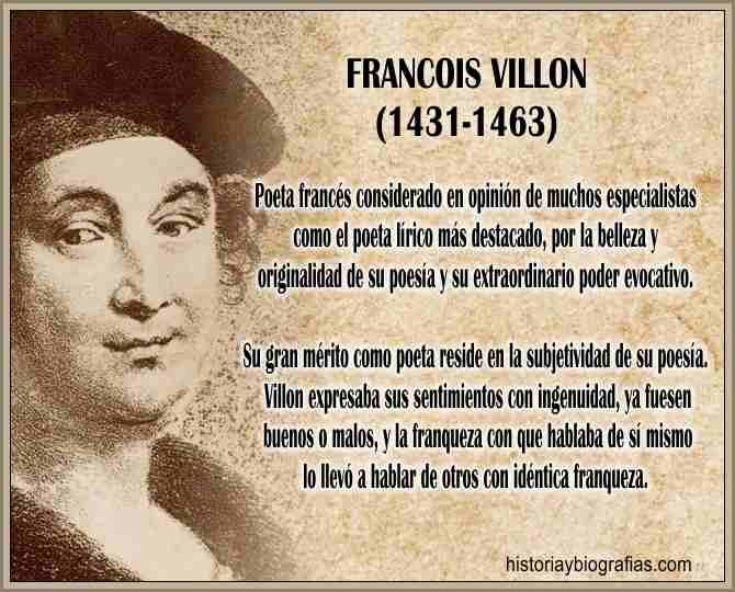 Biografia de Francois Villon poeta frances