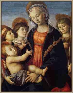 virgen y el niño de sandro boticelli