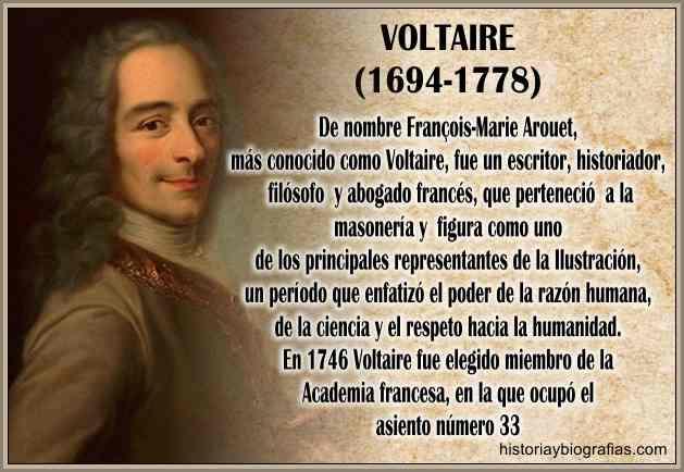 Biografía de Voltaire Francois Marie Arouet Filosofia e Ideas ...