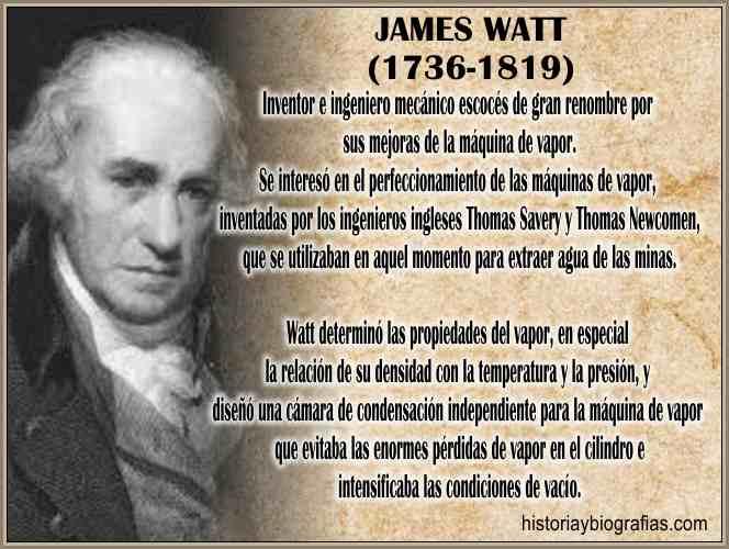 Biografia James Watt y la Historia de la Maquina a Vapor ...