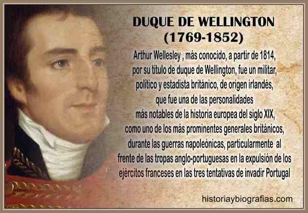 biografia del duque de welligton