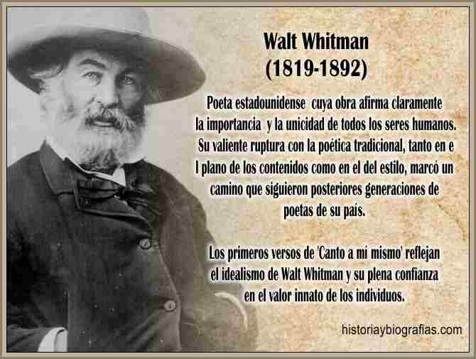 Biografia de Whitman Walt