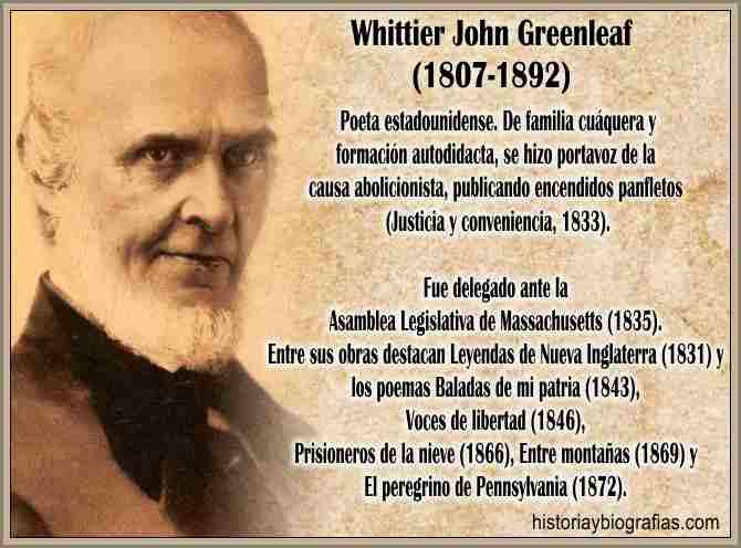 Biografia de Whittier John