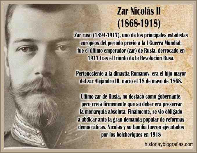 Biografía del Zar Nicolas II de Rusia Gobierno y Obra Política