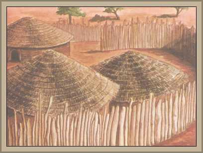 choza de los zulues en africa